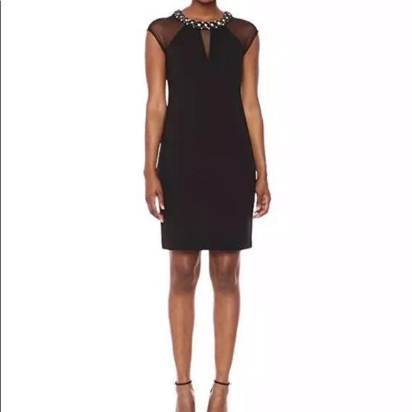 Sz 4 Eliza J black dress New 7186